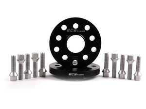 ES#2568233 - ECS10158KTWBC -  ECS Wheel Spacer & Bolt Kit - 17.5mm With Conical Seat Bolts - Includes everything you need to install spacers on two wheels - ECS - Audi Volkswagen