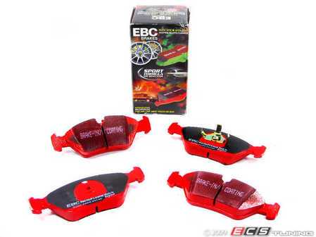 ES#517727 - dp3414c - RedStuff Performance Brake Pad Set - A high-performance street pad, featuring Kevlar technology - EBC - BMW Porsche