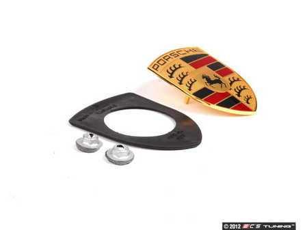 ES#2568968 - 99755921102KT - Full Color Hood Crest Kit - Complete installation kit with new-style crest - Genuine Porsche - Porsche