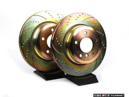 ES#2153591 - GD1647 - Rear Sport Brake Rotor Kit - Pair (324x22) - Reduce the fade, improve your braking - EBC - BMW