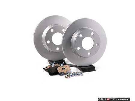 ES#2562609 - 4B0615601BKT - Rear Brake Service Kit - Featuring Meyle rotors and Vaico brake pads - Assembled By ECS - Audi