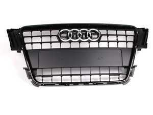ES#517604 - 8T0853651EVMZ - Grille Assembly - Black - Includes the chrome Audi rings - Genuine Volkswagen Audi - Audi