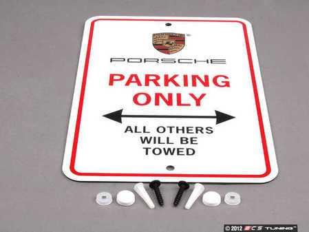 """ES#1882250 - PNA70100100 - """"Porsche Only"""" Parking Sign - Give your garage or driveway a splash of Porsche flash - Genuine Porsche - Porsche"""