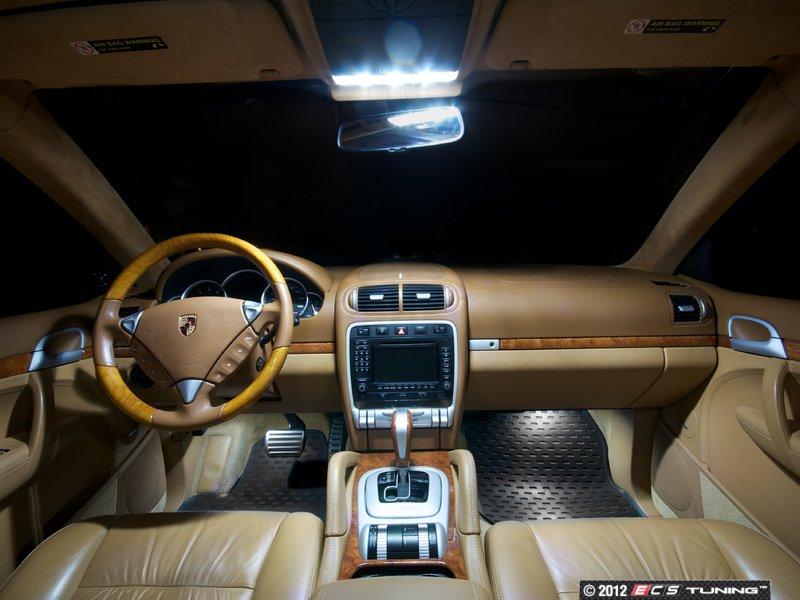 Ecs News Porsche 955 Cayenne Ziza Interior Led Lighting Kits