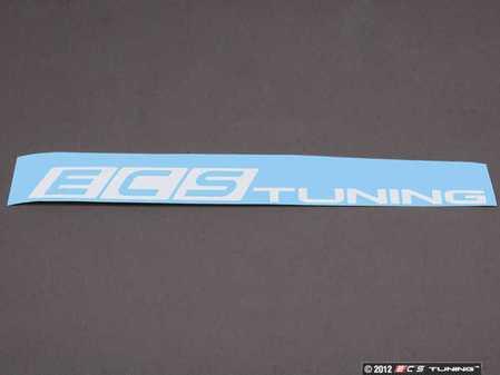 "ES#4706 - ECS1X8WSWHITE - White ECS Tuning Window Sticker - Priced Each - 1""x8"" window sticker - Show some love for your favorite tuning company - ECS - Audi BMW Volkswagen Mercedes Benz MINI Porsche"