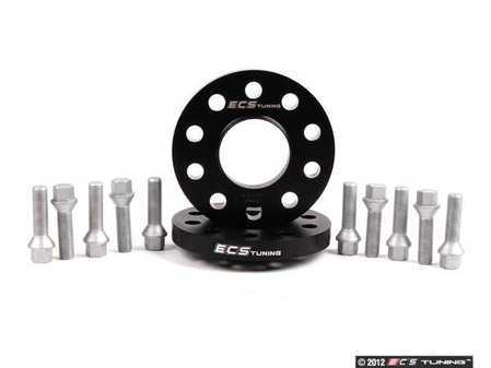 ES#2568316 - 6-ECS-023 -  Wheel Spacer & Bolt Kit - 17.5mm With Conical Seat Bolts - Complete kit for two wheels, comes with everything you need to install spacers on your aftermarket wheels - ECS - Audi