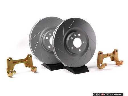ES#4522 - B7A4S1FSLT - Front Big Brake Kit - stage 1 - Slotted Rotors (345x30) - Upgrade to the stopping power of the Audi S4. Includes ECS GEOMET brake rotors. - Assembled By ECS - Audi