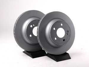 ES#2569688 - 2114230912SET5 - Rear Brake Rotors - Pair - Vented rotors, not for use on vehicles with solid rear brake rotors - Zimmermann - Mercedes Benz