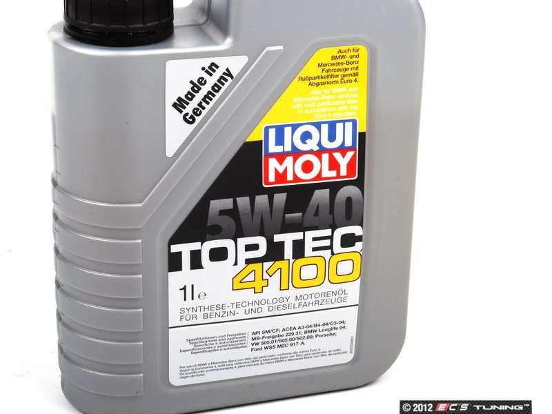 liqui moly 2329 top tec 4100 5w 40 1 liter. Black Bedroom Furniture Sets. Home Design Ideas