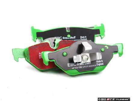 ES#2153395 - DP22069 - Rear GreenStuff Performance Brake Pad Set - Designed as a mildly upgraded pad, great for an afternoon of sporty driving - EBC - BMW