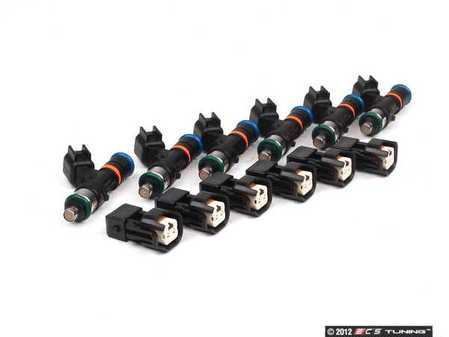 ES#2574528 - INJB550KT6 - 550cc Fuel Injectors - Set Of Six - Great for stage III 2.7T upgrades. Includes injector plug adapters - Bosch - Audi