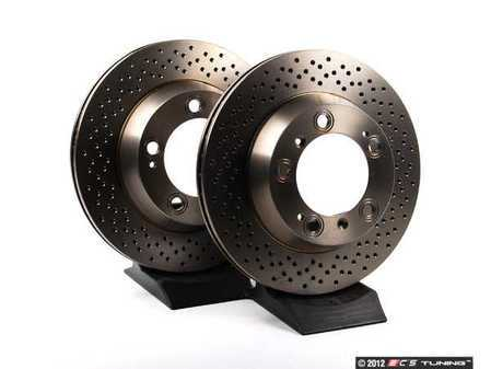 """ES#2535785 - 98735240301KT - Rear Brake Rotors - Pair 11.77"""" (299mm) - Rear axle fitment - Both left and right - ATE - Porsche"""