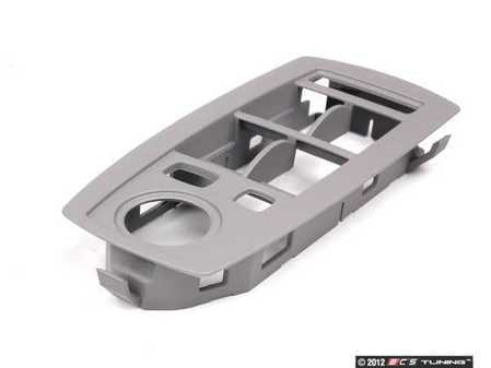 ES#98398 - 51413415805 - Door Switch Cover - Left - Grau/Gray. Trims the switches located in the drivers door panel - Genuine BMW - BMW