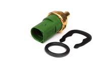 ES#264174 - 059919501AKT2 -  Coolant Temperature Sensor With O-Ring  Clip - 4 Pin - Updated Green sensor with square/round connector. Please check existing sensor color - Genuine Volkswagen Audi - Audi Volkswagen
