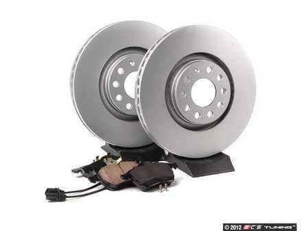 ES#2562608 - 8E0615301ADKT2 - Front Brake Service Kit - Featuring Meyle rotors and Vaico semi metallic pads - Assembled By ECS - Audi