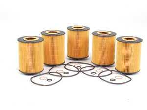 ES#1892657 - 11427542021 - Oil Filter - 5 Pack - Stock Up And SAVE! - Includes all related gaskets - Hengst - BMW