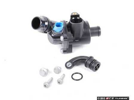 ES#2574945 - 06B121111KKT - Thermostat Replacement Kit - Includes new thermostat, j-plug, o-ring, and hardware - Assembled By ECS - Audi
