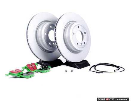 ES#2083397 - E9X3411-5 - Performance Rear Brake Service Kit - Zimmerman Rotors with EBC GreenStuff Pads - Everything you need to service your rear brakes in an afternoon - Assembled By ECS -