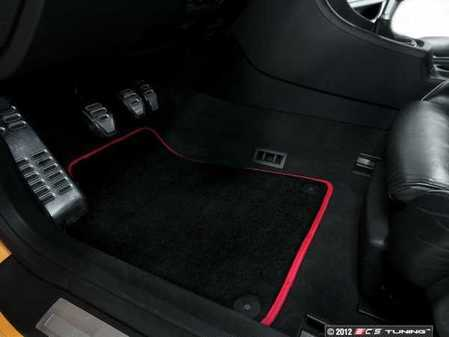 ES#2528762 - 8D0898016RKT - Floor Mat Set - Black / Red Piping - (NO LONGER AVAILABLE) - High Quality Mats To Protect Your Interior - Schwaben -