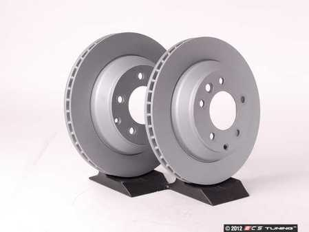 """ES#2539336 - 95535240131KT3 - Rear Coated Brake Rotors - Pair 12.99"""" (330mm) - Rear axle fitment - Both left and right - ATE - Porsche"""