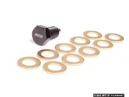 ES#251840 - 002201ECS02A - Magnetic Oil Drain Plug - Priced Each (12x1.5) - Featuring 10 copper washers - ECS - BMW MINI