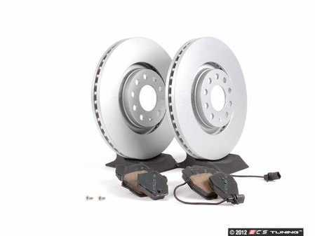 ES#2561643 - 8E0615301ADK - Front Brake Service Kit - Meyle Rotors & Akebono Euro Ceramic Pads - Everything you need to service your front brakes in an afternoon  - Assembled By ECS -