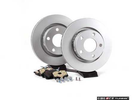 ES#2562301 - 4B3615601KT1 - Rear Brake Service Kit - Featuring Meyle rotors and Mintex red box pads - Assembled By ECS - Audi