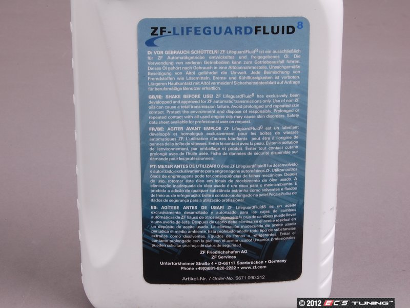 Zf G060162a2 Lifeguard 8 Automatic Transmission Fluid