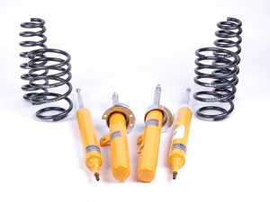 ES#2581683 - E902SUSKT - Performance Suspension Cup Kit - Race - Featuring Koni Yellow shocks and H&R Race lowering springs - Assembled By ECS - BMW