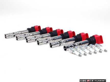 ES#2532255 - 06C905115LKT1 - Ignition Service Kit - Includes six Delphi coil packs and six NGK spark plugs - Assembled By ECS - Audi