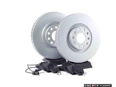 ES#2562299 - 4B3615301KT1 - Front Brake Service Kit - Featuring Meyle rotors and Vaico semi metallic pads - Assembled By ECS - Audi