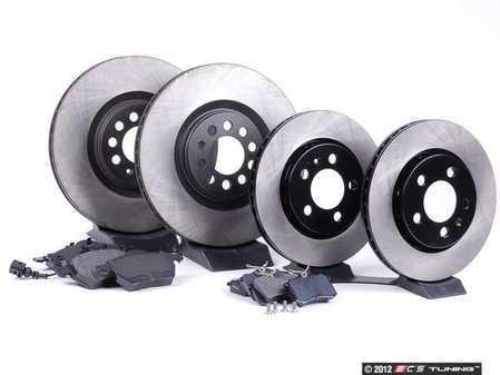 ES#2581580 - 8L0615301KT1 - Front & Rear Brake Service Kit - Includes OP Parts Rotors and OP Parts Pads - Assembled By ECS -