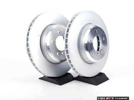 ES#2526447 - 34116782593KT -    Front Brake Rotors - Pair (348x30) - Featuring a two piece design and an aluminum hat - Genuine BMW - BMW