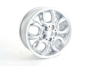 "ES#2159816 - 36109803725 - R123 Alloy 5 Hole Circular Spoke Wheel 16"" (5x120) Silver - Priced Each - 16 X 6.5 ET:46 - Genuine MINI - MINI"