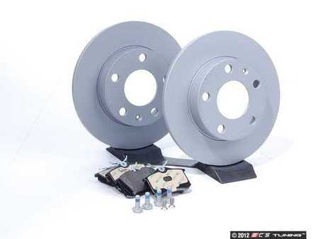 ES#2561902 - 8E0615601PKT - Rear Brake Service Kit - Zimmerman Rotors & Mintex Redbox Pads (245x10) - Everything you need to service your rear brakes in an afternoon  - Assembled By ECS -
