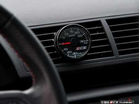 ES#8020 - 8E0998003 - ECS Vent Pod Boost Gauge Kit - Vent-mounted digital boost gauge for B6 A4 looks factory installed - ECS - Audi