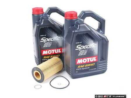ES#1892014 - 4M0V83KOILKT - Oil Service Kit - Premium - Includes 10 liters of Specific 502.00 / 505.00 / 505 (5w-40), filter, and drain plug sealing washer - Assembled By ECS - Audi Volkswagen