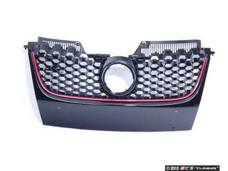 ES#2562335 - 1K1853653BR - Honeycomb Grille - Black GTI honey comb grille with VW emblem whole - JOM - Volkswagen