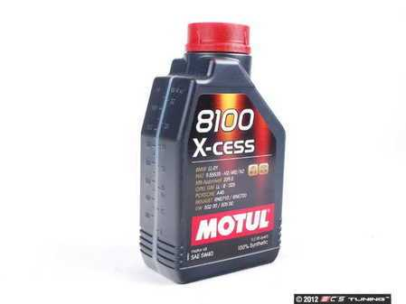 ES#261380 - 368211 - 8100 X-Cess Engine Oil (5w-40) - 1 Liter - A fully synthetic engine oil allowing extended oil drain intervals, while protecting your engine in the harshest conditions - Motul - Audi BMW Volkswagen MINI