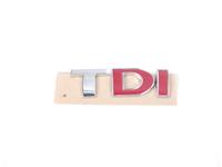 ES#338199 - 3B0853675ACGQF - TDI Emblem - Chrome / Red / Red stick on emblem - Genuine Volkswagen Audi - Volkswagen