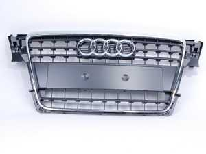 ES#451518 - 8K08536511QP - Grille Assembly - Stone Grey With Chrome Trim - Clean up or change your look - Genuine Volkswagen Audi - Audi