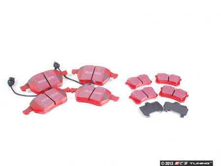 ES#2587244 - DP31114CKT - Front & Rear RedStuff Brake Pad Kit - A high performance street pad, featuring Kevlar technology - Assembled By ECS -