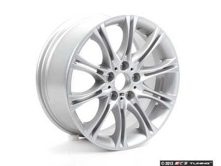 "ES#2738846 - 36117896470KT - 18"" M Double Spoke Style 135 Wheel Set - Staggered  - 18x8 ET47 FR / 18x8.5 ET50 72.6mm CB. Originally found on E46 ZHP models. - Genuine BMW - BMW"