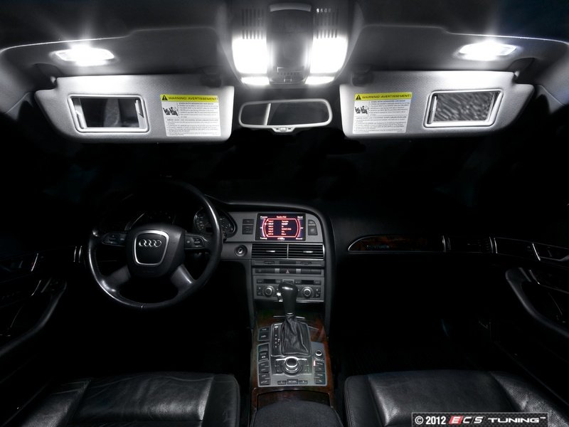 ecs news audi c6 a6 s6 sedan led interior lighting kits. Black Bedroom Furniture Sets. Home Design Ideas