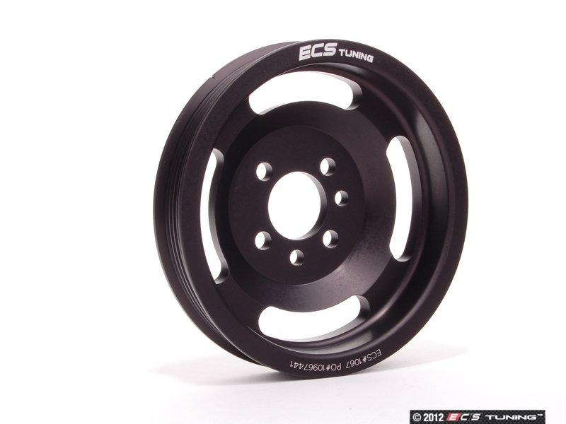 ECS News - ECS#1067BLK - ECS Lightweight Crank Pulley - Black ...