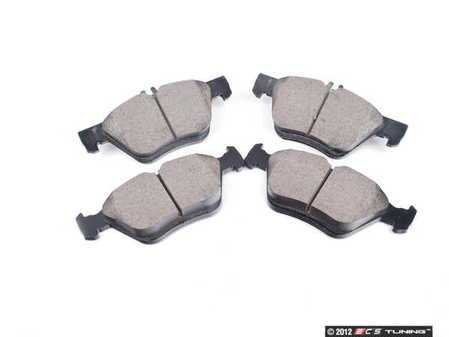 ES#2592893 - 0044200320 - Front Euro Ceramic Brake Pad Set - Includes new brake pad shims - Akebono - Mercedes Benz