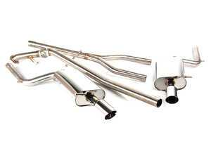 "ES#264038 - FPIM-0506 - Sport Cat-Back Exhaust System - 2.5"" Fully Polished - Fully polished 2.5"" system with dual 3"" rolled edge polished tips - Billy Boat Performance - Audi"