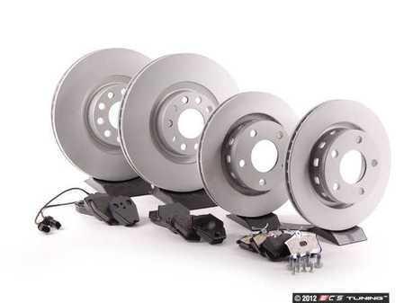 ES#2562307 - 4B3615301KT1 - Front & Rear Brake Service Kit - Featuring Meyle rotors and Vaico brake pads - Assembled By ECS - Audi