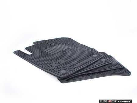 ES#1827990 - Q6680683 - Rubber Floor Mats - Set Of Four - Black Color - Genuine Mercedes Benz - Mercedes Benz