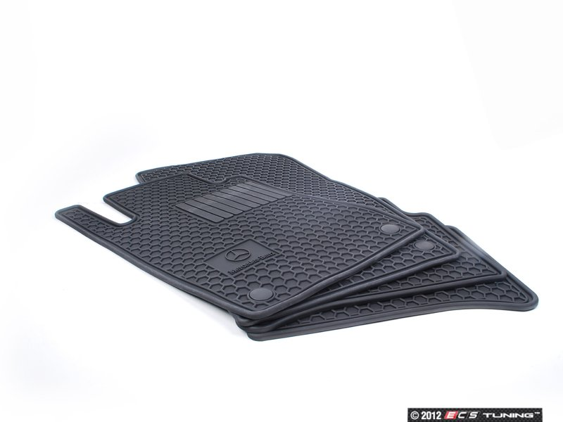 genuine mercedes benz q6680683 rubber floor mats set of four. Cars Review. Best American Auto & Cars Review